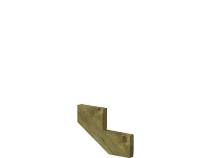 Plus Treppenwange 2-stufig Kiefer druckimprägniert 50 x 34 cm