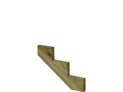Plus Treppenwange 3-stufig Kiefer druckimprägniert 75 x 31 cm