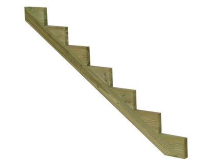 Plus Treppenwange 7-stufig Kiefer druckimprägniert 175 x 119 cm