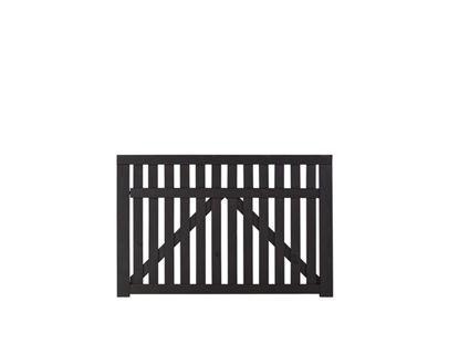 Plus Country Einzeltor schwarz grundiert 150 x 98 cm