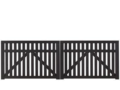Plus Country Doppeltor schwarz grundiert 300 x 98 cm