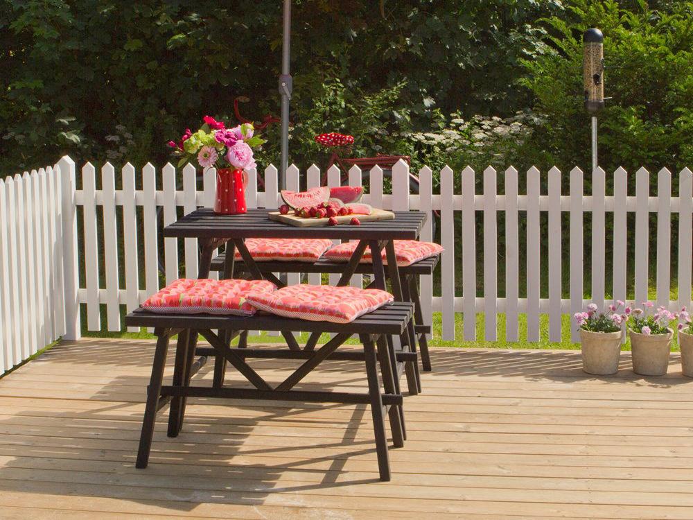 Plus Skagen Zaun weiss grundiert 150 x 80 cm Terrasse