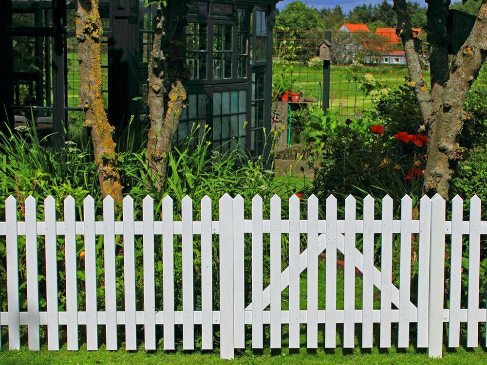 Plus Skagen Zaun weiss grundiert 150 x 80 cm Garten