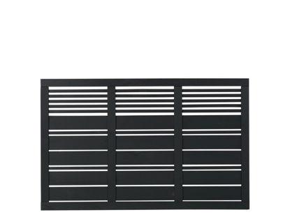Plus Silence Zaun schwarz grundiert 176 x 110 cm