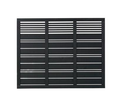 Plus Silence Zaun schwarz grundiert 176 x 140 cm
