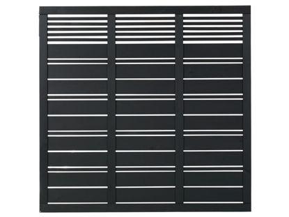 Plus Silence Sichtschutzelement schwarz grundiert 176 x 170 cm