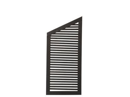 Plus Silence Übergangselement schwarz grundiert 64 x 140 / 110 cm