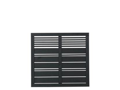 Plus Silence Zaun schwarz grundiert 120 x 110 cm
