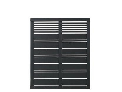 Plus Silence Zaun schwarz grundiert 120 x 140 cm