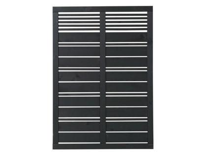 Plus Silence Sichtschutz-Zaun schwarz grundiert 120 x 170 cm