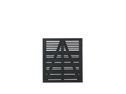 Plus Silence Einzeltor schwarz grundiert 100 x 110 cm