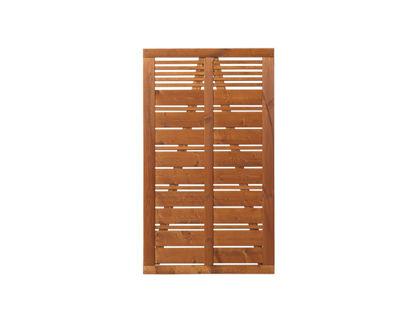 Plus Silence Einzeltor teakfarben grundiert 100 x 170 cm Sichtschutz-Tore