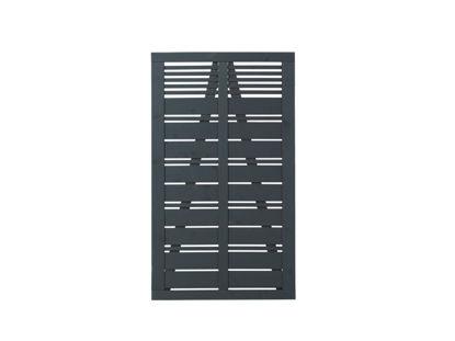 Plus Silence Einzeltor anthrazit grundiert 100 x 170 cm Sichtschutztor