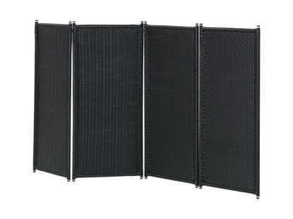 Plus Trend Paravent 4-teilig Polyrattan 235 x 120 cm Outdoor