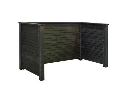 Plus Plank Profil Mülltonnenverkleidung schwarz