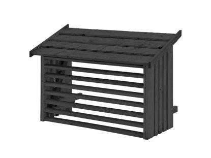 Plus Wärmepumpen Verkleidung Kiefer-Fichte schwarz 96 x 56 x 78 cm