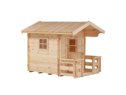 Plus Spielhaus mit Terrasse Kiefer-Fichte unbehandelt 162 x 198 x 153 cm