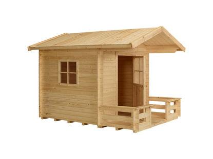 Plus Spielhaus mit Terrasse Kiefer-Fichte unbehandelt 238 x 215 x 190 cm