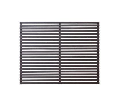 Plus Tokyo Zaun schwarz 180 x 140 cm Sichtschutz halbhoch