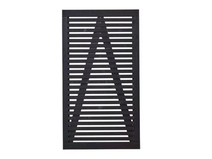 Plus Tokyo Einzeltor Gartentüre schwarz 100 x 180 cm