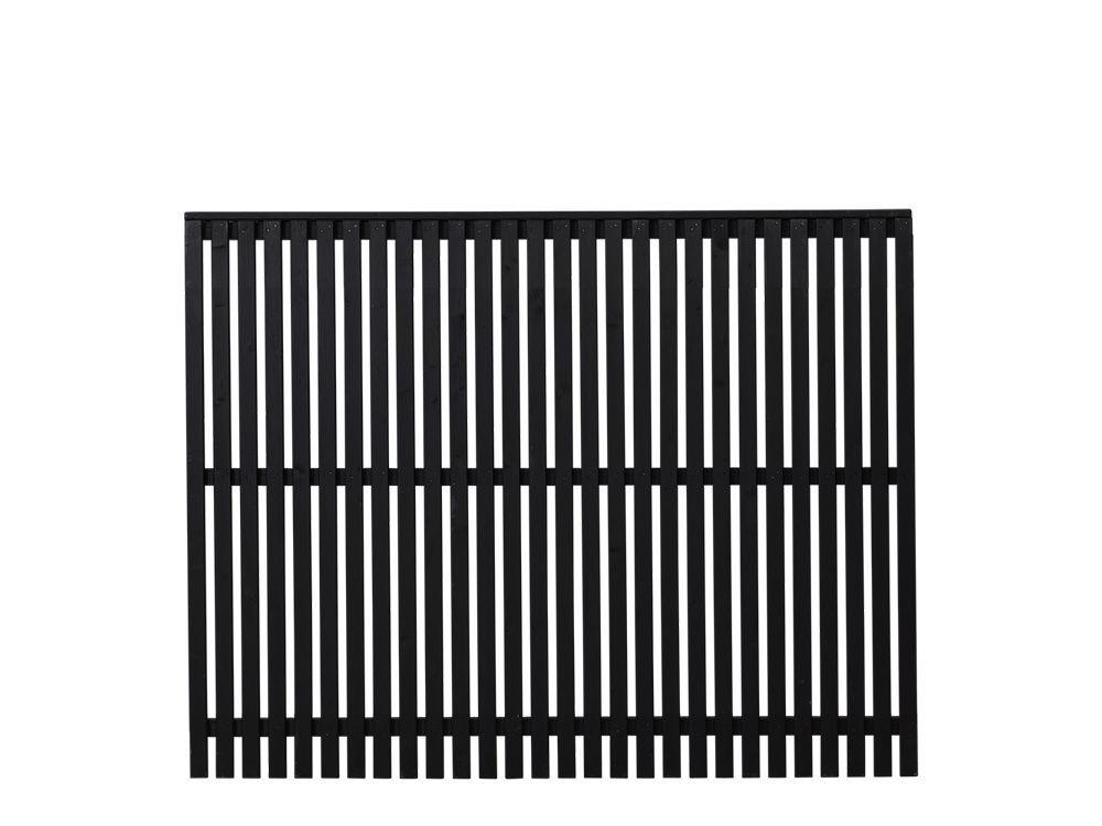 Plus Sendai Zaun Kiefer-Fichte schwarz 180 × 140 cm