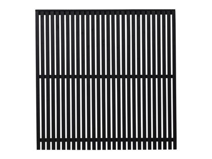 Plus Sendai Sichtschutzzaun Kiefer-Fichte schwarz 180 × 180 cm