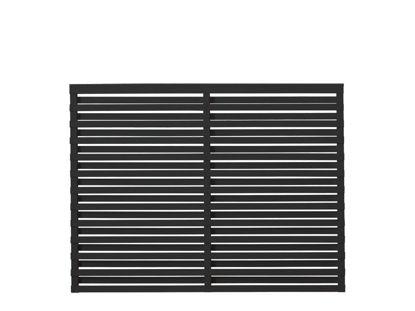 Plus Osaka Zaun Kiefer-Fichte schwarz 180 x 136 cm