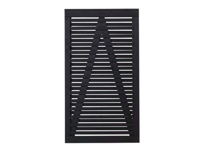 Plus Osaka Sichtschutz-Gartentüre Kiefer-Fichte schwarz 100 x 180 cm