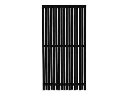 Plus Nagano Sichtschutz-Zaun Schwarz 90 × 180 cm