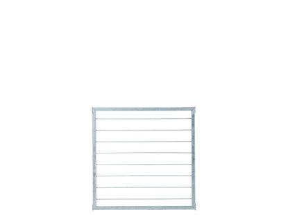 Plus Cubic Rahmenzaun mit Stahlspalier 90 x 90 cm