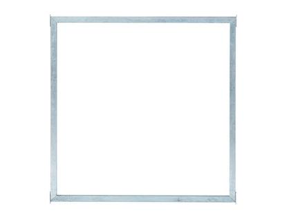 Plus Glaszaun mit Rahmen Klarglas 90 x 90 cm
