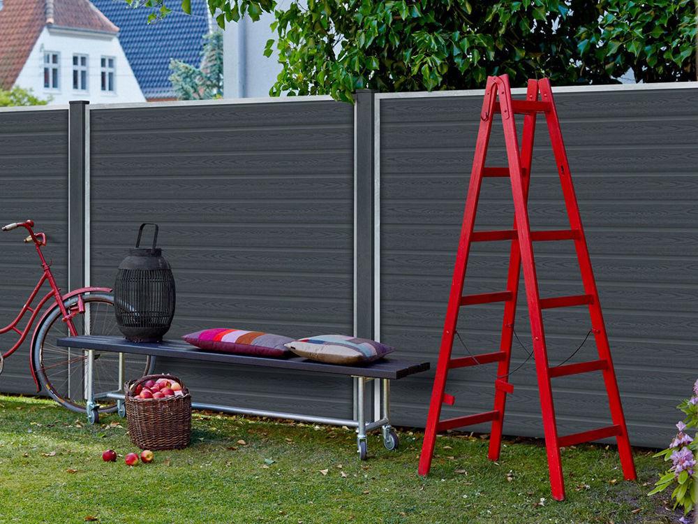 Plus Artura WPC Zaun 90 x 95 cm skandinavscher Zaun Design Ambiente
