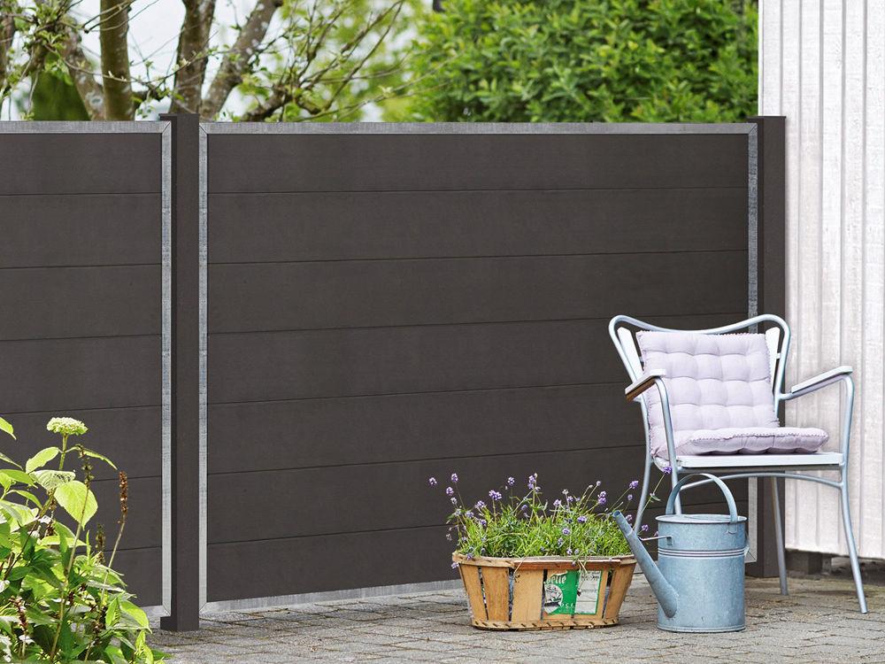 Plus Futura WPC Zaun 180 × 145 cm Design im Garten und auf der Terrasse