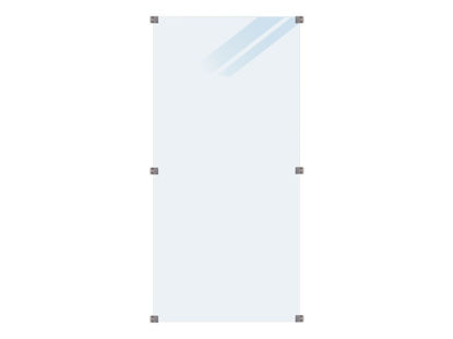 Plus Glaszaun satiniert 90 x 180 cm