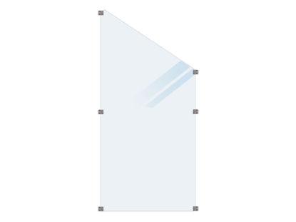 Plus Glaszaun, satiniert Übergangselement 90 x 180/127 cm