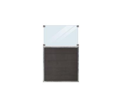 Plus Futura WPC Zaun mit Glas 90 x 145 cm