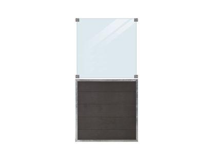 Plus Futura WPC Zaun mit Glas 90 x 180 cm