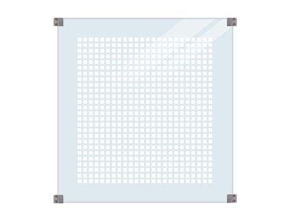 Plus Glaszaun mit Siebdruck 90 x 91 cm