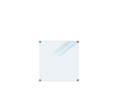 Plus Verbundglaszaun satiniert 90 x 91 cm für quadratische Pfosten