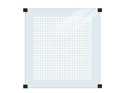 Plus Glaszaun mit Siebdruck für runde Pfosten 90 x 91 cm