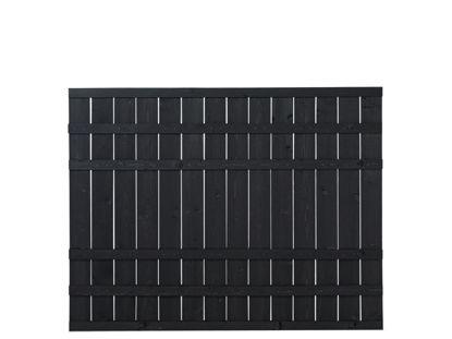 Plus Rustik Zaun schwarz grundiert 180 x 138 cm