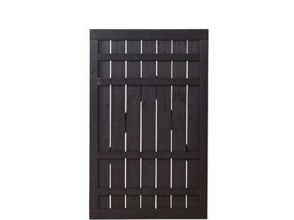 Plus Rustik Einzeltor schwarz grundiert 100 x 158 cm Sichtschutztor traditionell dänisch Privatsphäre
