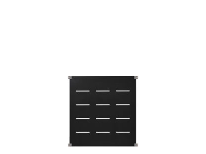 Plus Futura Deko Zaunelement Stahl grauschwarz 90 x 91 cm