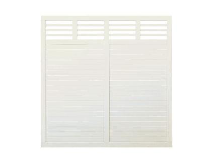 Plus Decora Zaun Sichtschutzelement grundiert 180 x 180 cm