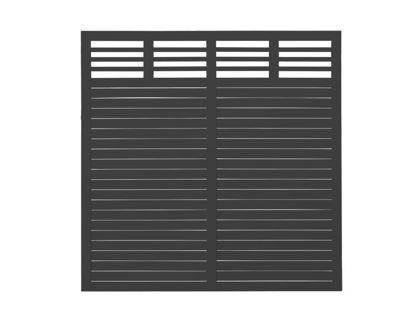 Plus Decora Sichtschutzelement schwarz grundiert 180 x 180 cm