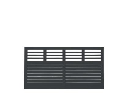 Plus Decora Zaun schwarz grundiert 180 x 95 cm