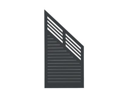 Plus Decora Übergangselement schwarz grundiert 90 x 180 / 95 cm