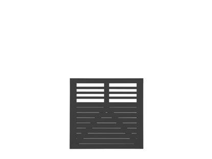 Plus Decora Einzeltor schwarz grundiert 100 x 95 cm