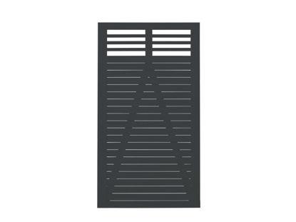 Plus Decora Einzeltor schwarz grundiert 100 x 180 cm