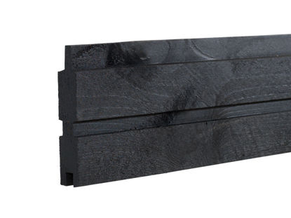 Plus Plank Profilbrett Kiefer-Fichte schwarz 177  x 2,5 x 14 cm